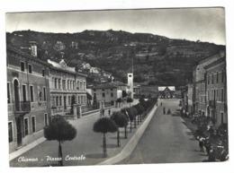 1166 - CHIAMPO PIAZZA CENTRALE ANIMATA 1950 CIRCA  VICENZA - Vicenza