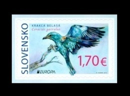 Slovakia 2019 Mih. 870 Europa. National Birds. Fauna. European Roller (self-adhesive) MNH ** - Slovakia