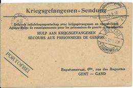 Kriegsgefangenensendung Van Soltau Naar Gent - WW I