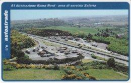 VIACARD AUTOSTRADE A1 DIRAMAZIONE ROMA NORD AREA DI SERVIZIO SALARIA - Italia