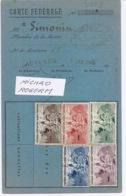 PHILATHELIE - Carte D'abon. à La Fédération Des Stés Françaises - Mr SIMONIN D'AUXERRE - 130419 - Autres