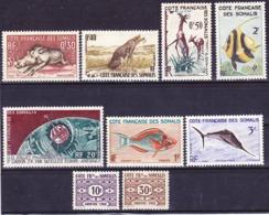 Côte Des Somalis 1958-1963 Lot De Timbres Neufs Sans Charnière **, Je Vends Ma Collection! - Französich-Somaliküste (1894-1967)