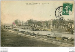 K. 94 CHARENTON LE PONT. Péniches Sur Le Canal 1908 - Charenton Le Pont