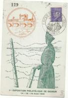 EXPOSITION PHILATELIQUE // SAUMUR // 1943 - Marcophilie (Lettres)