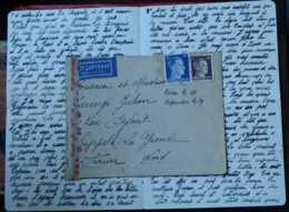 HAMBURG 1943 LETTRE CAPPELLE-LA-GRANDE NORD CENSURE GUERRE DEUTSCHES REICH ALLEMAGNE GERMANY DEUTSCHLAND - Allemagne