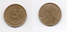 5 Francs – Belgique – 1986 – Légende Française – Bronze Aluminium – Etat TTB – KM 163 - 1951-1993: Baudouin I