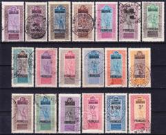Soudan Francais 1921-1930 Lot De La Série Courante Incluant Yv. 36, 50/Mi 48, 57 Oblitéré O - Usati