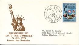 Morocco FDC 27-7-1976 U.S. Bi-Centennial 1776 - 1976 With Cachet - Morocco (1956-...)