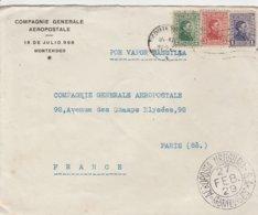 Uruguay Lettre Pour La France 1929 - Uruguay