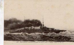 Marine Militaire Francaise  -  Le 'Bretagne'  -  Cuirassé  D'Escadre De 23550 Tonnes -   Marius Bar CPA - Oorlog