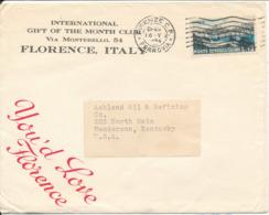 Italy Cover Sent To USA Firenze 16-5-1954 - 1946-.. République