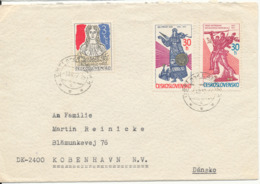 Czechoslovakia Cover Sent To Denmark 1-12-1977 - Czechoslovakia