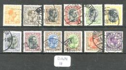 DAN YT 105/116 En Obl - 1913-47 (Christian X)