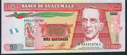GUATEMALA P123c 10 Quetzales 2.5.2012 Joh.Enschede Printer,issued 2014 Modified Flag Unc. - Guatemala