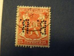 BELGIQUE PERFIN Perforé - 1934-51