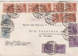 Allemagne Zone AAS Lettre Schwerte 1948 - Gemeinschaftsausgaben