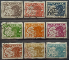 AUSTRIA 1925/30 - Canceled - ANK 468, 469, 470, 471, 472, 473, 474, 476, 477 - AIR MAIL - Aéreo