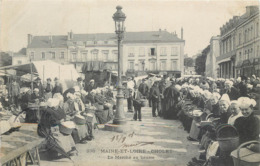 CPA 49 Maine Et Loire Cholet Le Marché Au Beurre - Cholet