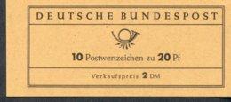 Markenheftchen Bund Postfr. MH 09 U Postfrisch MNH ** - [7] West-Duitsland