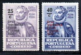 N° 85,86 * ( Cruz Vermelha Porte France 1936 )  - 1935 - Neufs