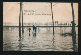 MOERZEKE   DE OVERSTROOMDE STEENWEG - Hamme