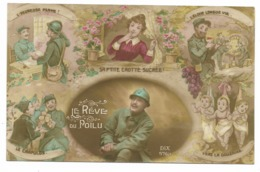 Carte Humoristique - Le Rêve Du Poilu... 1918 - Umoristiche