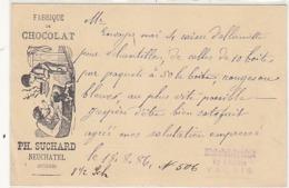 Suchard - Fabrique De Chocolat - Ganzache - 1886 !            (P-192-71013) - Publicité