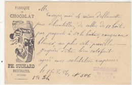 Suchard - Fabrique De Chocolat - Ganzache - 1886 !            (P-192-71013) - Advertising