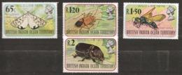 Océan Indien BIOT 1976 N° 86 / 9 ** Insectes, Coléoptères, Utetheisa, Papillon, Dysdercus, Guêpe, Oryctes Rhinoceros - Territoire Britannique De L'Océan Indien