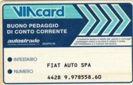 VIACARD BUONO PEDAGGIO DI CONTO CORRENTE - Italia