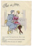 Carte Humoristique - Plat Du Jour... 1918 - Humour