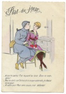 Carte Humoristique - Plat Du Jour... 1918 - Umoristiche