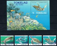 Bloc Sheet + Serie Set Reptiles Tortues Reptils Turtles Neuf MNH **  Tokelau 1995 - Turtles