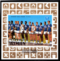 Olympics 1968 - Basketball - AJMAN - S/S Imperf. MNH - Zomer 1968: Mexico-City