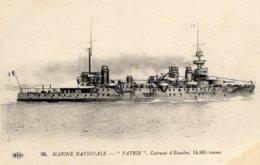 Marine Militaire Francaise  -  'Patrie'  -  Cuirassé  D'Escadre  -    CPA - Oorlog