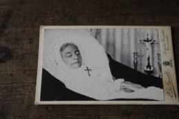 1910 Doodsprentje Foto Lijk Dendermonde Grembergen Wwe Ridder De Waepenaert De Kerrebrouck Zeldzaam - Religión & Esoterismo