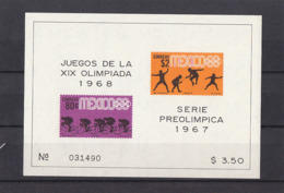 Olympics 1968 - Cycling - MEXICO - S/S Imperf. MNH - Zomer 1968: Mexico-City