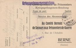 CP D'un Prisonnier De Guerre Français à STUTTGART Pour  BERNE. ( Difts Cachets). - Marcophilie (Lettres)