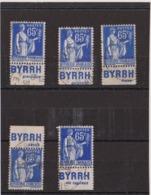 Type Paix 65c Byrrh Obl - Publicidad