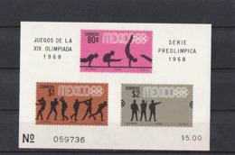 Olympics 1968 - Shooting - MEXICO - S/S Imperf. MNH - Zomer 1968: Mexico-City