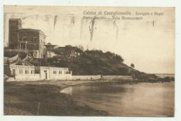 CALETTA DI CASTIGLIONCELLO - SPIAGGIA E BAGNI PORTO VECCHIO - VILLA MONTEZEMOLI 1926  VIAGGIATA FP - Livorno