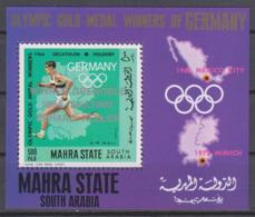 Olympics 1968 - Athletics - MAHRA STATE - S/S Silv Ovp MNH - Zomer 1968: Mexico-City