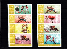 Olympics 1968  - Soccer - Equestrian - AJMAN - Set Imp. MNH - Zomer 1968: Mexico-City