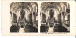 Bayr. Hochland - Egern - Inneres Der Kirche  - 1904 (S049) - Stereo-Photographie