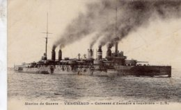Marine Militaire Francaise  -  'Vergniaud'  -   Cuirassé A Tourbines  -    CPA - Oorlog