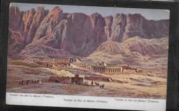 AK 0363  Perlberg , F.  - Tempel Von Der El-Bahari Theben ( Aegypten ) / Künstlerkarte Um 1910-20 - Perlberg, F.