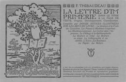 La Lettre D'imprimerie - Exlibril Francis Thibaudeau - Paris Avenue Reille - Advertising