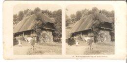 Schwarzwaldhaus Im Gutachthal  - 1904 (S050) - Stereo-Photographie