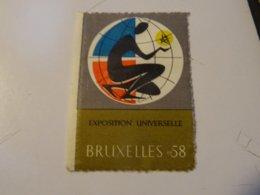 VIGNETTE  BELGIQUE EXPOS 1958 BRUXELLES - Vignettes De Fantaisie