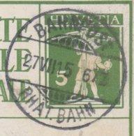 GR   BAHNPOST RHAETISCHE BAHN  /  BUNDESFEIERKARTE - Briefe U. Dokumente